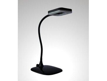 TRANGO LED Schreibtischlampe, 7491-015 LED Tischlampe in Schwarz *LOPY* inkl. 1x 6 Watt LED Modul 3000K warmweiß & 3 Stufen Touch dimmbar Tischleuchte, Nachttischlampe, schwenkbar und drehbar Tischlampe