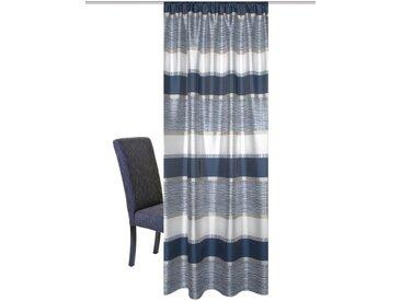 HOME WOHNIDEEN Vorhang »Tilos«, Kräuselband (1 Stück), blau, blau