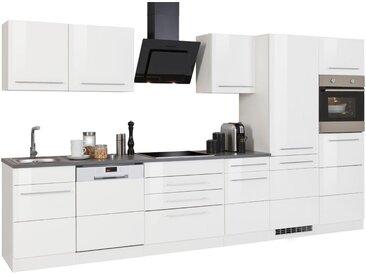 HELD MÖBEL Küchenzeile »Trient«, ohne E-Geräte, Breite 360 cm, weiß, weiß Hochglanz
