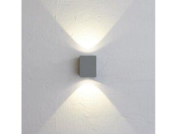 Licht-Trend Aussen-Wandleuchte »Baleno Quadi LED Up&Down Grau«, grau, Grau