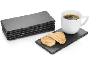 SÄNGER Platzset, »Schieferplatten Set Biscuit«, (6-St., Schieferplatten Set 6 teilig 20x10 cm)