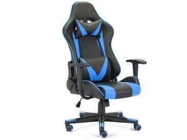 Superfy Gaming Chair im Motorsport Design, blau, Blau&Schwarz