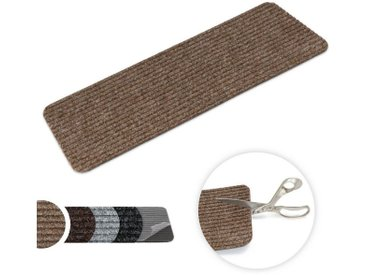 Metzker® Stufenmatte »Tulus«, rechteckig ohne Winkel, Höhe 7 mm, 15 Stück im Set, braun, 15 St., Hellbraun