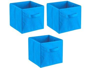 ADOB Aufbewahrungsbox »Faltboxen« (Set), Inklusive Haltegriff, blau, hellblau