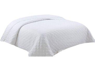 Leonado Vicenti Tagesdecke »Uni«, mit Rauten-Steppung und auch als Sofaüberwurf einsetzbar, weiß, weiß