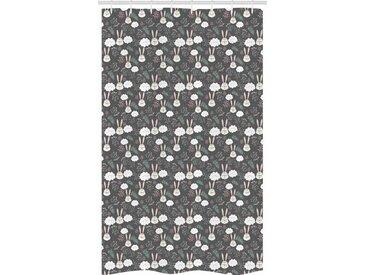 Abakuhaus Duschvorhang »Badezimmer Deko Set aus Stoff mit Haken« Breite 120 cm, Höhe 180 cm, Hase Sleeping Hasen und Wolken