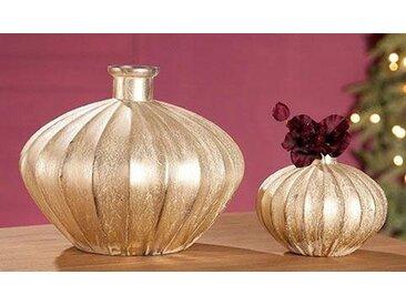 GILDE Tischvase »Antigua«, Glas Ovale Vase