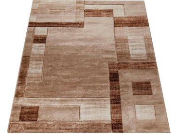 Paco Home Teppich »Florenz«, rechteckig, Höhe 16 mm, Designer Teppich mit Konturenschnitt, Wohnzimmer, braun, braun