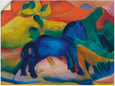 Artland Wandbild »Blaues Pferdchen Kinderbild. 1912.«, Tiere (1 Stück), Wandaufkleber - Vinyl