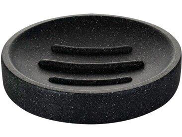 RIDDER Seifenschale »Stone«, rund, schwarz, schwarz
