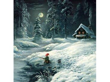 Paper+Design Papierserviette »Winternacht in Wald«, (5 St), 33 cm x 33 cm, 5 St.