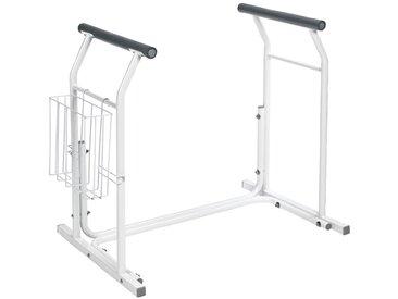 RIDDER WC-Element »Comfort«, mobile WC-Aufstehhilfe, silberfarben, 66 cm, weiß/schwarz