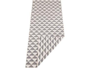 bougari Läufer »Tahiti«, rechteckig, Höhe 5 mm, In- und Outdoor geeignet, Wendeteppich, grau, grau-creme