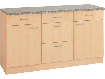 wiho Küchen Unterschrank »Kiel« 150 cm breit, natur, Buche Dekor/Buche Dekor