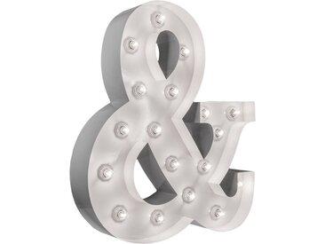 MARQUEE LIGHTS LED Dekolicht »&-Zeichen«, Wandlampe, Tischlampe &-Sign mit 18 festverbauten LEDs - 53cm Breit und 61cm hoch