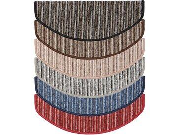 Kubus Stufenmatte »Rom«, Halbrund, Höhe 4 mm, blau, Blau