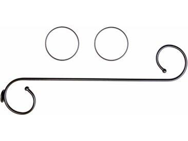 Good Life Himmelbettgarnitur »Antonia«, (3 St), mit 2 Deko-Ringen, schwarz, schwarz