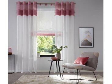 Home affaire Gardine »Gander«, Ösen (2 Stück), rosa, rose