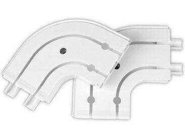 Bestlivings Erker-Innenbogen, 2-läufig, Verbindungsbogen / Abschlußbogen für Gardinenschienen, Vorhangschienen, 1-Lauf bis 3-Lauf