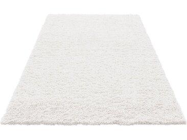 Home affaire Hochflor-Teppich »Viva«, rechteckig, Höhe 45 mm, weiß, snow