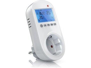 BEARWARE Steckdosen Thermostat für Heiz & Klimageräte »Individuell programmierbar / LCD-Display«, weiß, weiß