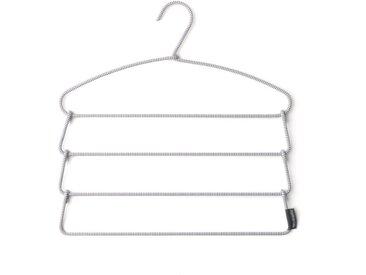 Brabantia Kleiderbügel »Soft Touch-Hosenbügel Grey«, (Packung, 1-tlg)