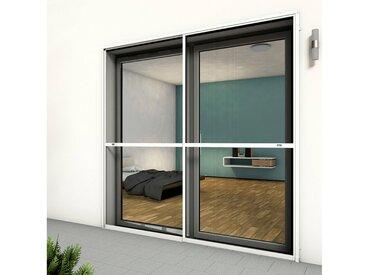 hecht international HECHT Insektenschutz-Tür »COMFORT«, weiß/anthrazit, BxH: 240x240 cm, grau, Türen, 240 cm x 240 cm, anthrazit