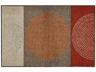 Fußmatte , waschbar, rot, rot/braun