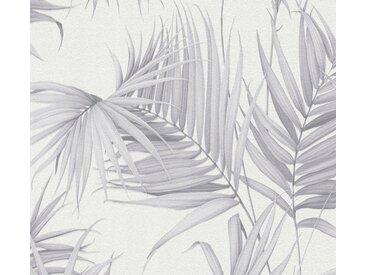 METROPOLIS BY MICHALSKY LIVING Vliestapete »Dream Again«, tropisch, botanisch, Palmen-Print, weiß, hellgrau-weiß