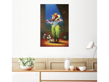 Posterlounge Wandbild, Clown und Hund, Premium-Poster