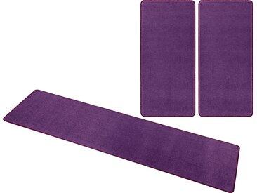 HANSE Home Bettumrandung »Shashi« , Höhe 8 mm, einfarbig, Kurzflor, getuftet, natur, lila