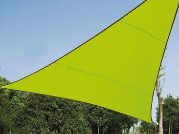 PEREL Sonnensegel, dreieckig Dreieck-Segel für Terrasse Balkon & Garten Sonnenschutz-Segel - Terrassenüberdachung, grün, Grün