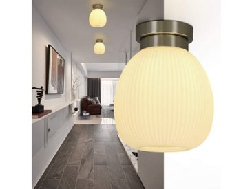 ZMH Deckenleuchte »Deckenlampe Glas Weiße Flur E27 Vintage aus Glas Flurlampe Kronleuchter Pefekt für Balkon Wohnzimmer Treppen Korridor«