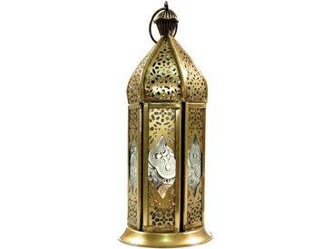 Guru-Shop Laterne »Orientalische Metall/Glas Laterne in..«, farblos-mehrfarbig
