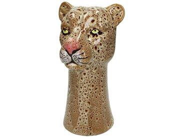 Engelnburg Dekovase » Vase Blumenvase Leopard Steinzeug Braun«