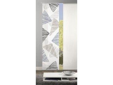 HOME WOHNIDEEN Schiebegardine »Dekostoff Digitaldruck Trista 245 x 60 cm Grau«, (1 Stück)