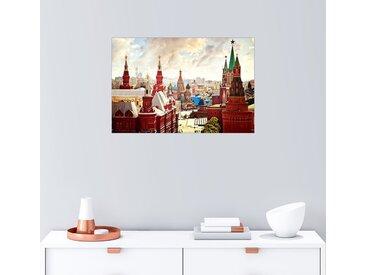 Posterlounge Wandbild, Luftaufnahme des Kreml in Moskau, Roter Platz, Premium-Poster