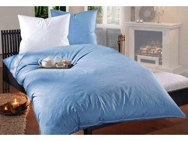 RIBECO Federbettdecke, »Leon«, extrawarm, Füllung: 100% Federn, (1-tlg), blau, saphirblau