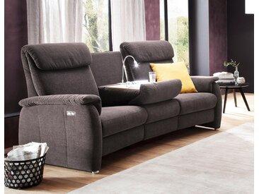 DELAVITA Sofa »Turin«, mit integrierter Tischablage, Leuchte und USB-Ladestation, auch in Leder erhältlich, grau, ohne Relaxfunktion, stone
