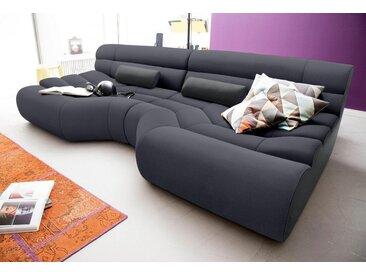 TRENDMANUFAKTUR Big-Sofa, grau, dunkelgrau-schwarz