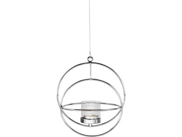 Fink Kerzenhalter »LUA, silberfarben«, Hängeleuchter, Kerzenleuchter, zum Aufhängen, rund, aus Metall, handgefertigt, verschiedene Größen erhältlich