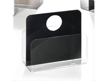 Places of Style Zeitungsständer »Remus«, aus Acrylglas, schwarz, klar-schwarz