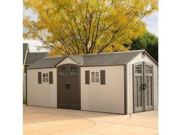 Lifetime Gerätehaus »Makro«, BxT: 605x244 cm, (Set), inkl. Fußboden, Regale und Werkzeugtasche