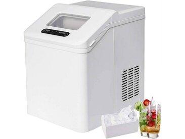 Woltu Küchenwagen, Eiswürfelmaschine 2,5 Liter Wassertank Selbstreinigungsmodus 20kg 24h weiß