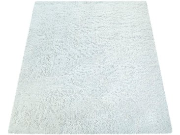 Paco Home Hochflor-Teppich »Bamba 410«, rechteckig, Höhe 45 mm, einfarbiger Uni Hochflor Shaggy, natur, creme