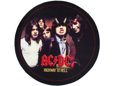 Mr. Ghorbani Teppich »Runder Teppich 67 cm ACDC Highway to Hell- Foto«, Rund, Höhe 3 mm
