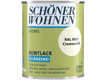 SCHÖNER WOHNEN-Kollektion SCHÖNER WOHNEN FARBE Lack »Home Buntlack«, glänzend, 750 ml, cremeweiß RAL 9001, weiß, weiß