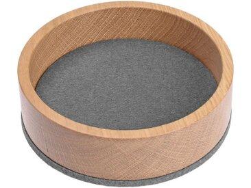 HEY-SIGN Organizer »Ablageschale Bowl Ø 13,5 cm aus Filz/Holz; Taschenleerer, Schlüsselablage, Schmuckablage; Made in Germany«, grau, Hellgrau