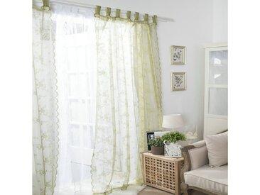 i@home Gardine »Schlinge Vorhang«, Schlaufen (1 Stück), grün, Jacquard, Voile, Grün