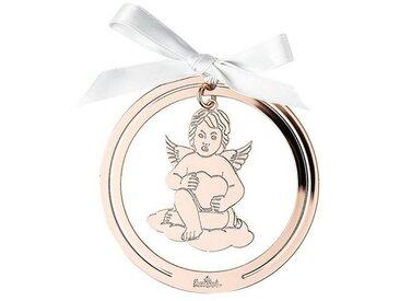 Rosenthal Christbaumschmuck »Silver Collection Angels Rose Gold Engel Anhänger rund« (1-tlg), Engel mit Herz